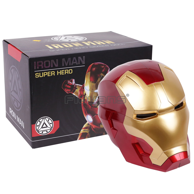 Iron Man Adult Motorcycle Helmet Cosplay Mask Touch Sensing Mask with LED Light Collectible Model Toy 1:1 High Quality iron man