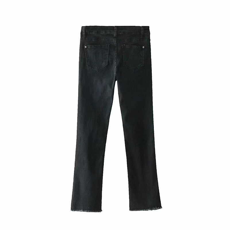 Western Style High-waisted Flash Trumpet Jeans Women's 7035