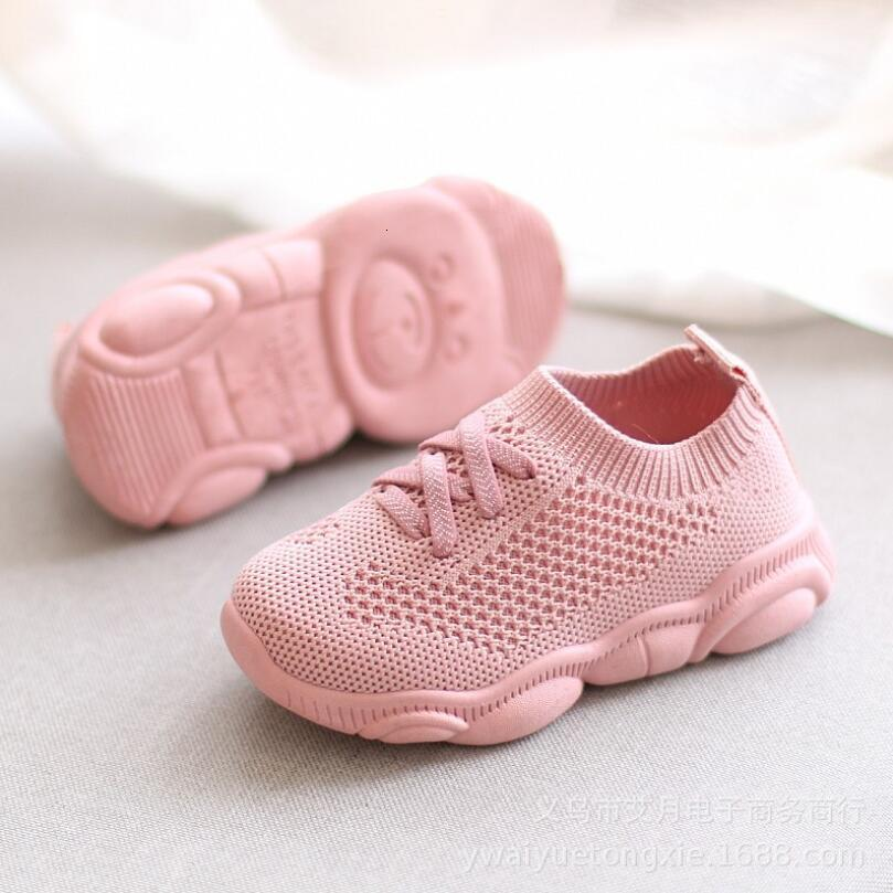 New Soft Baby Kids Children Girls Shoes Socks Boy Basketball Rose Girl Shoes Baby Knitted Baby Shoes High Ankle Apartment