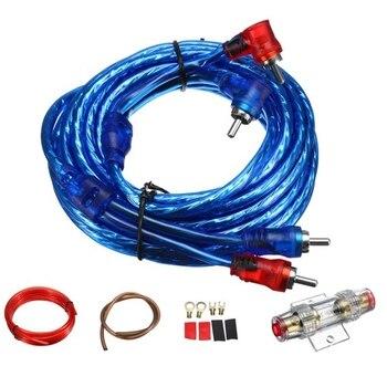 1500W coche o cableado de altavoces Cable amplificador Subwoofer altavoz instalación línea Kit 8Ga Cable de alimentación 60 Amp portafusibles