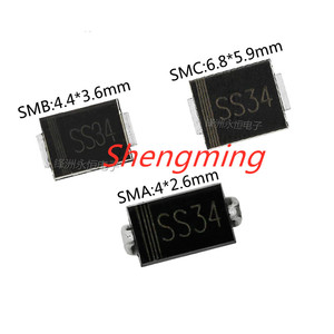 50PCS SS34 SMA SMB SMC 1N5822 IN5822 3A 40V Schottky diode