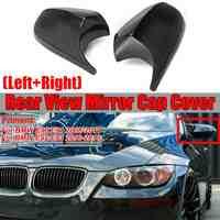 2 sztuk prawdziwe z włókna węglowego/ABS lustrzane osłony E90 naklejka na samochodowe lusterko wsteczne pokrywa bezpośrednie zastąpienie dla BMW E90 E91 08-11 E92 E93 10-13 LCI
