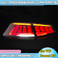 Car Styling for New VW EUR Passat B7 Taillight 2017 2018 2019 Passat LED dynamic Turn Signal+Brake+Reverse