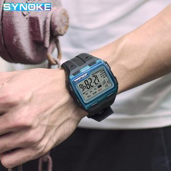 SYNOKE Sports Men Digital Watches Casual Large Dial Waterproof Alarm Clock Stop Watch Chronograph LED Display Relogio Masculino - discount item  43% OFF Men's Watches