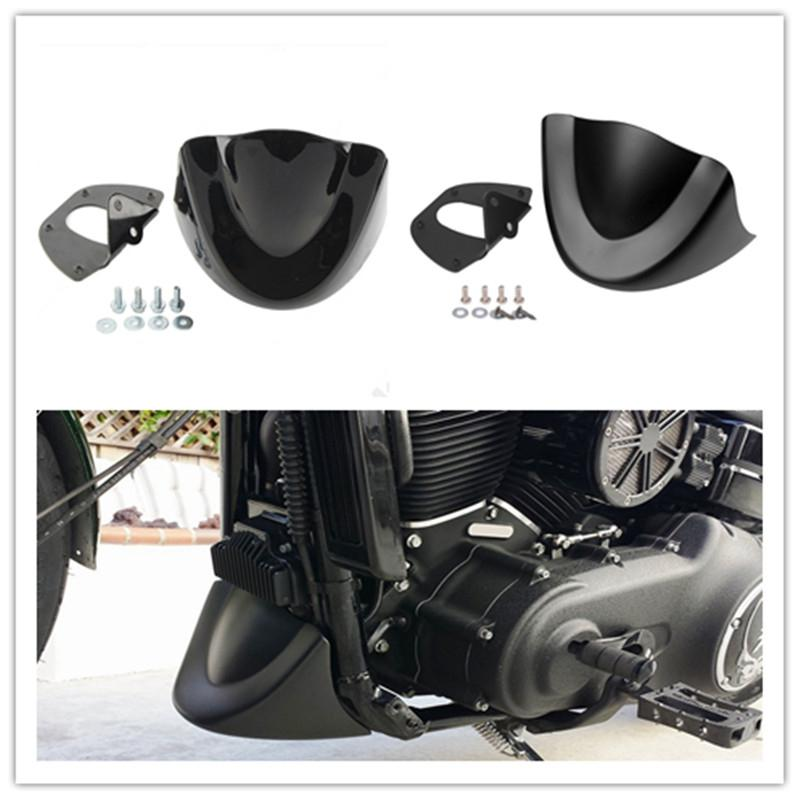 Motorcycle Air Dam Fairing Glossy Mudguard Cover Motorbike Accessories For Harley Dyna Fat Bob FXDL 2006-2017