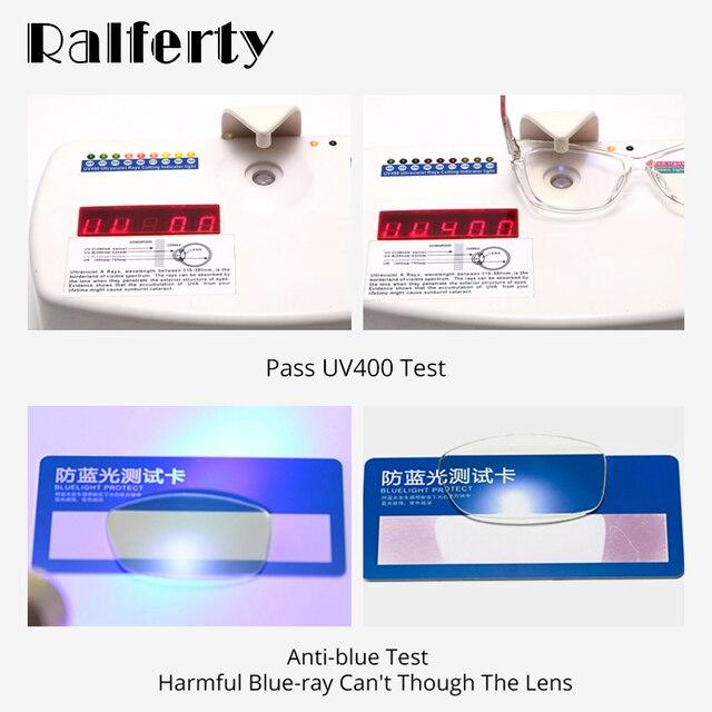 Ralferty-lunettes TR90 pour femmes, monture œil de chat, lunettes dordinateur transparentes, lumière bleue, avec printemps, sans dioptre