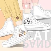 Anime Cartoon Casual Shoes Cute Women High Top White Sneakers 2020 Spring Female