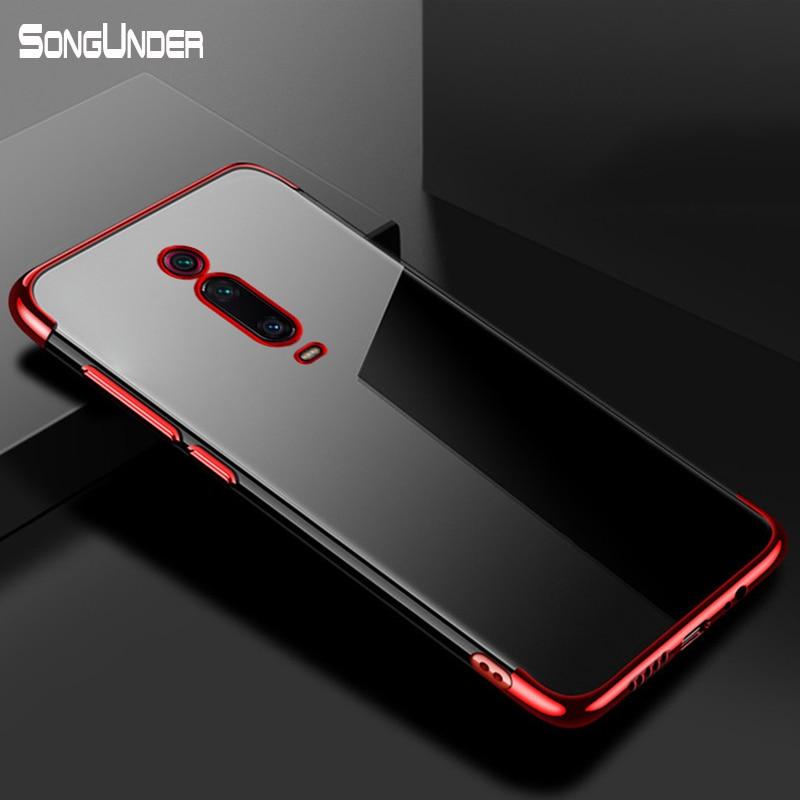 For Xiaomi Mi 9T Case Luxury Plating Soft Clear Back Cover For Xiaomi Mi 9T Pro Mi 9 T Mi9T Redmi K20 Pro K20Pro Phone Coque(China)