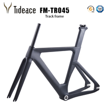 купить 2017 Carbon Track Frame Carbon Fiber Fixed Gear bike frame Carbon Tracking bike Frameset 48/51/54/56cm дешево