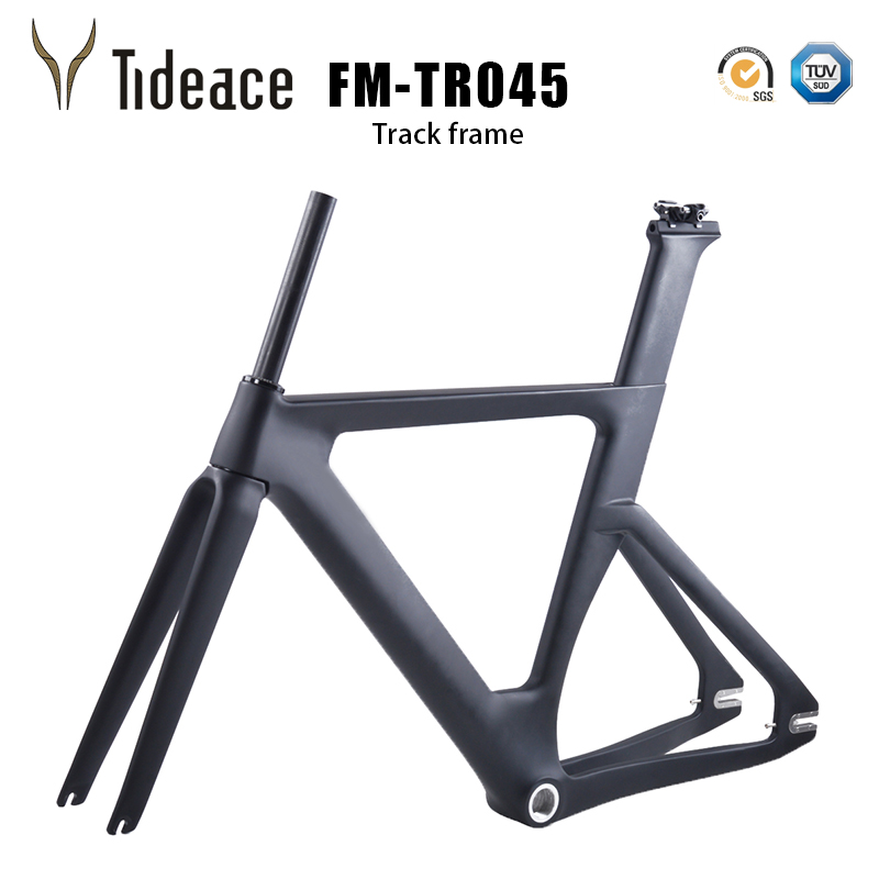 New Full Carbon Track Frame Carbon Track Bike Frameset With Fork Seatpost Carbon Fixed Gear Bicycle Frameset