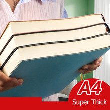 Bloc de notas súper grueso A4 para estudiantes, libreta de colores Retro, creatividad, papelería, cubierta de Pu de 416 páginas, suministros escolares de cuaderno