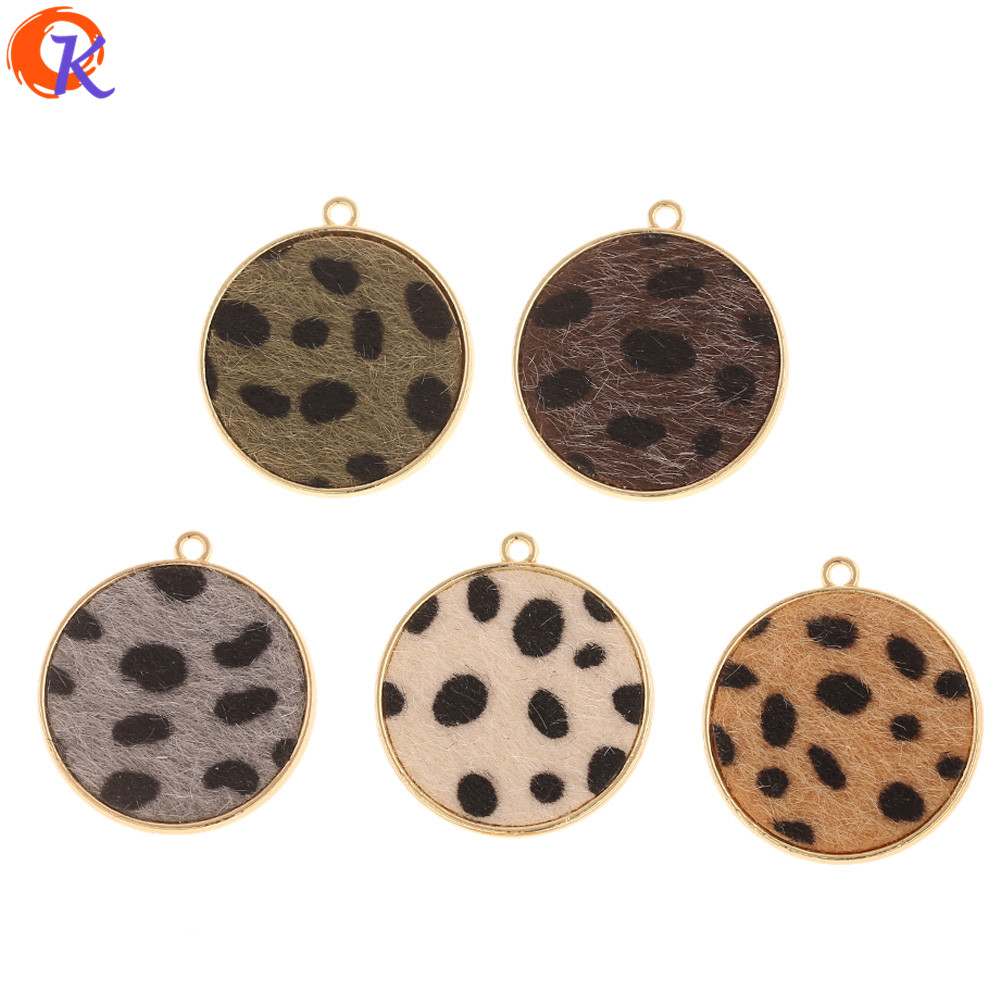 Cordial Design 50Pcs 30*33MM Jewelry Accessories/Hand Made/DIY Making/Round Shape/Leopard Print Effect/Charms/Earrings Findings