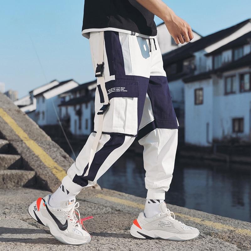 Fashion Streetwear Pants Men's Multi Pockets Cargo Harem Pants Hip Hop Casual Male Track Pants Joggers Trousers Harajuku Pants