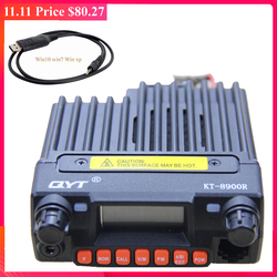 QYT KT-8900R Tri-Band Transceiver 136 ~ 174 & 240-260 & 400 ~ 480MHz Auto Mobiele radio 8900R + USB Programmging Kabel