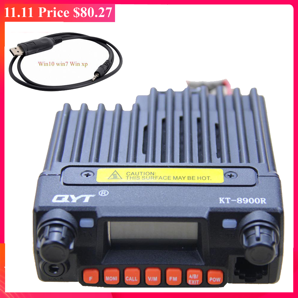 QYT KT-8900R Tri-Band Transceiver 136~174&240-260&400~480MHz Car Mobile Radio 8900R+ USB Programmging Cable