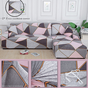 Stretch Sofa Covers Elastic Cover for Sofas Corner Couch Covers L Shape Sectional Slipcovers Furniture Protector for Living Room