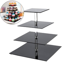 4 Layers Cake Stand Display Decorating Party Detachable Chocolate Food Rack Kitchen Dining Bar Cupcake Cookie Holder