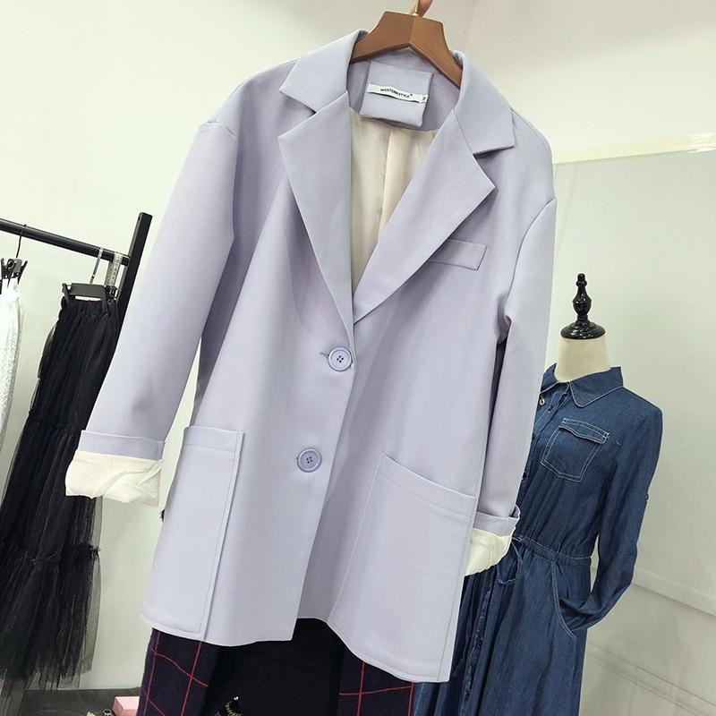 2020 Casual Suit Loose Ladies Blazer Spring and autumn new fashion solid color ladies jacket feminine Elegant coat small suit