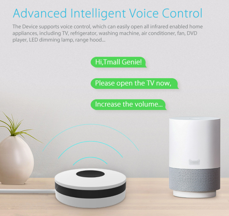 Hf2075b9f3c3141fc8d1ad595a5ec99dcZ - 2020 New NEO Smart Wireless Infrared Universal Remote WiFi IR Remote Support Google Home Universal Smart Remote Controller