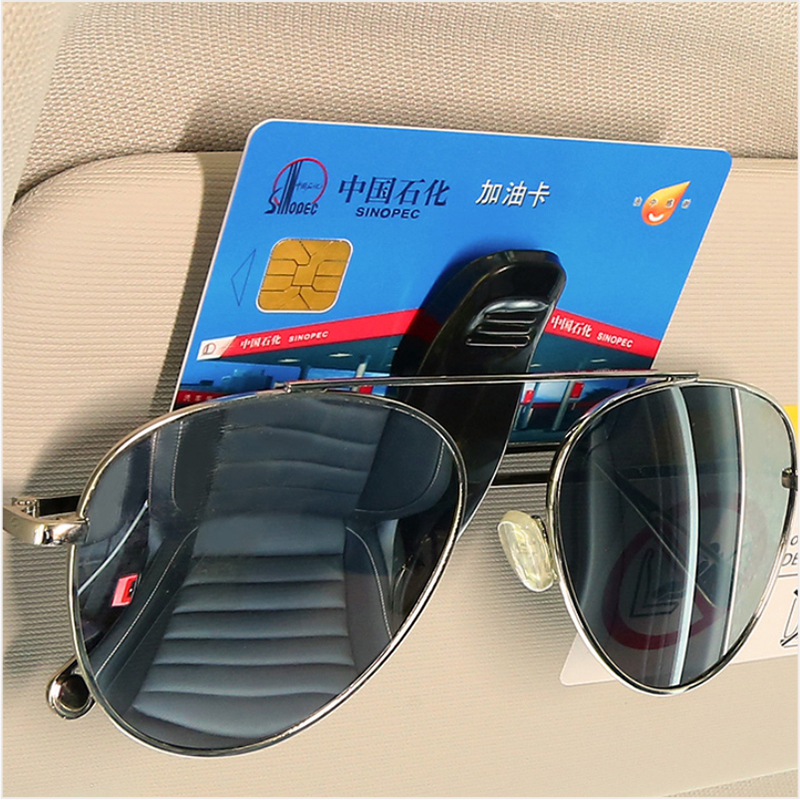 BROSHOO Hot Sale Car Accessories Sun Visor Sunglass Eyeglasses Glasses Card Pen Abs Portable Clip Ticket Holder Stand 1Piece(China)