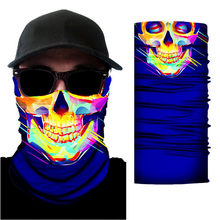 3D Skull print Headwear Scarf Outdoor Cycling Windproof Anti-Dust Warm Face Mask Multi-functional Sunscreen Bandana unisex 2020(China)