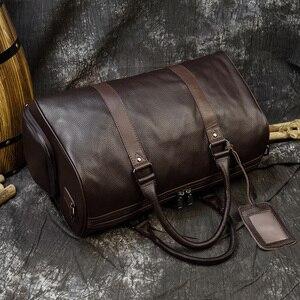 Image 5 - MAHEU ร้อนของแท้หนังผู้ชายผู้หญิงเดินทางกระเป๋าหนังแท้ Cowhide พกพากระเป๋าเดินทางกระเป๋าเดินทางกระเป๋าสะพายชายหญิง