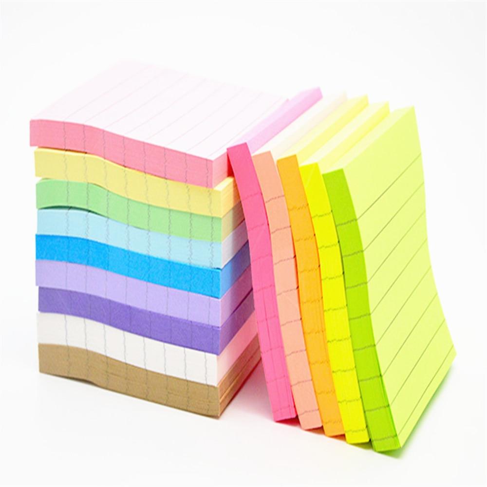Бумажный стикер для заметок с горизонтальной линией, 80 листов