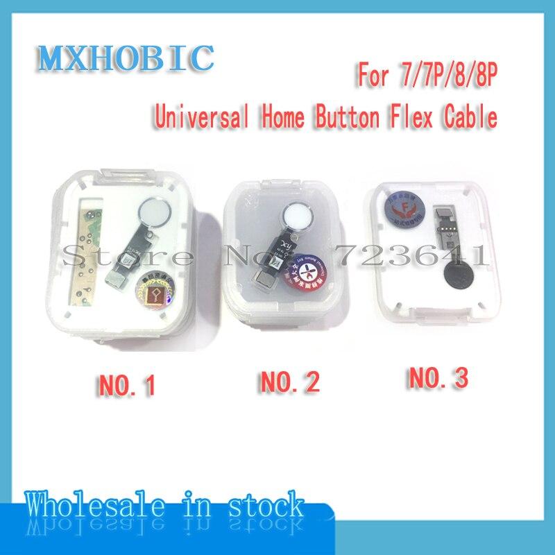 Flex-Cable Ribbon-Replacement Return Home-Button iPhone 7 8-Plus 10pcs Universal