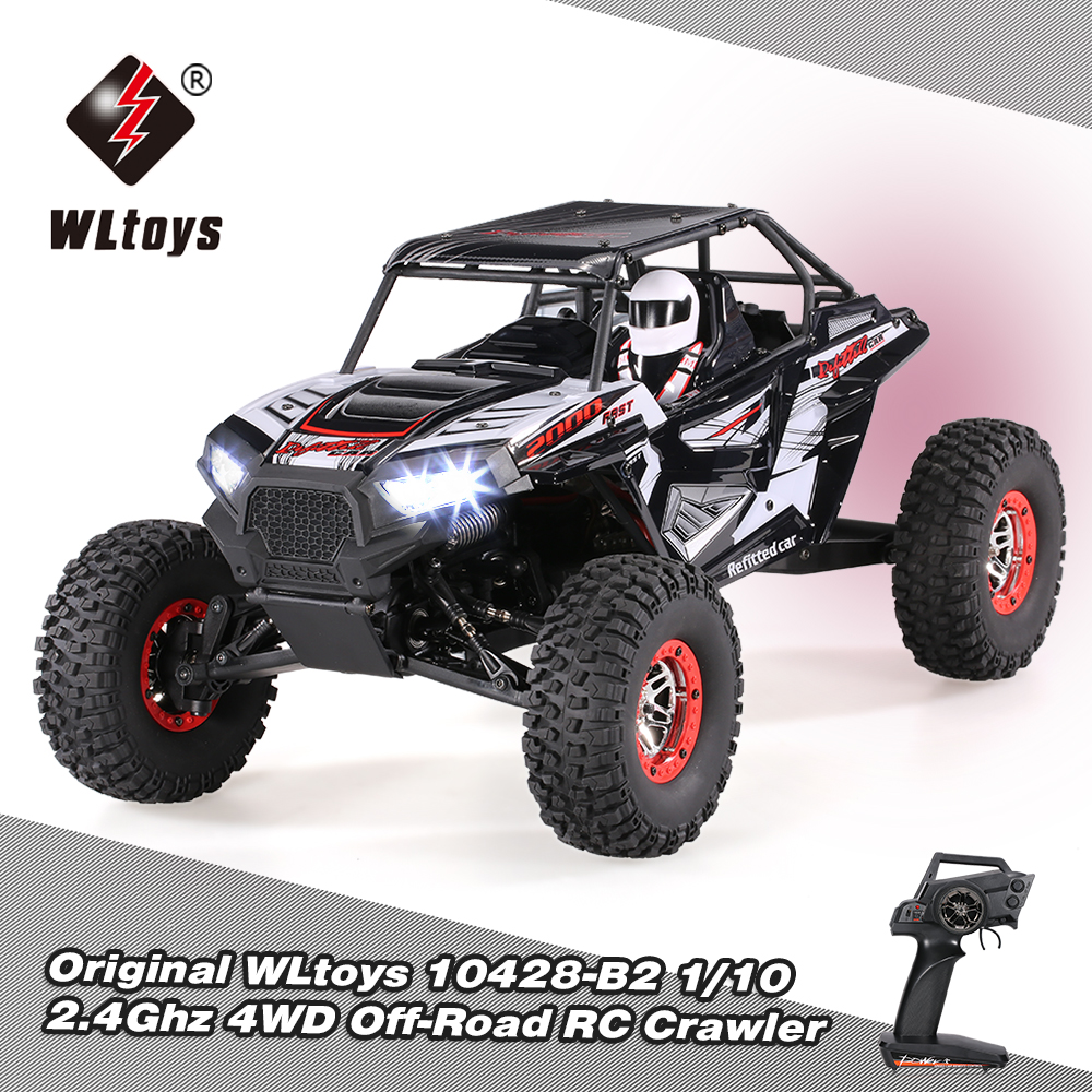 WLtoys <font><b>10428</b></font>-B2 1/10 RC Car 2.4G 4WD 50Km/h Rock Crawler Off-Road Desert Baja Remote Control Car RC Car RTR For Boys Gifts image