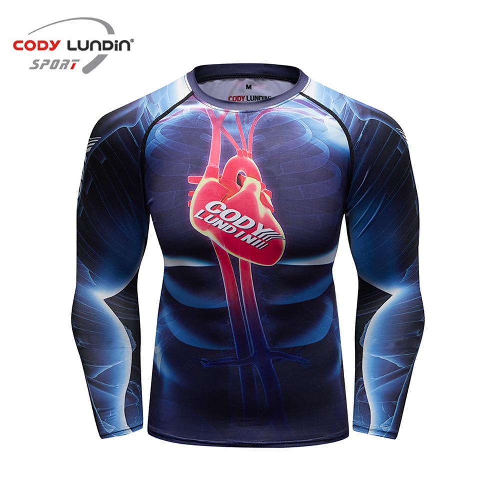 Mma Rashguard Long-sleeve Men's Compression T- Shirt RashGuard Jiu Jusit T-shirt MMA Fitness Quick-drying Bodybuilding Gym Tops