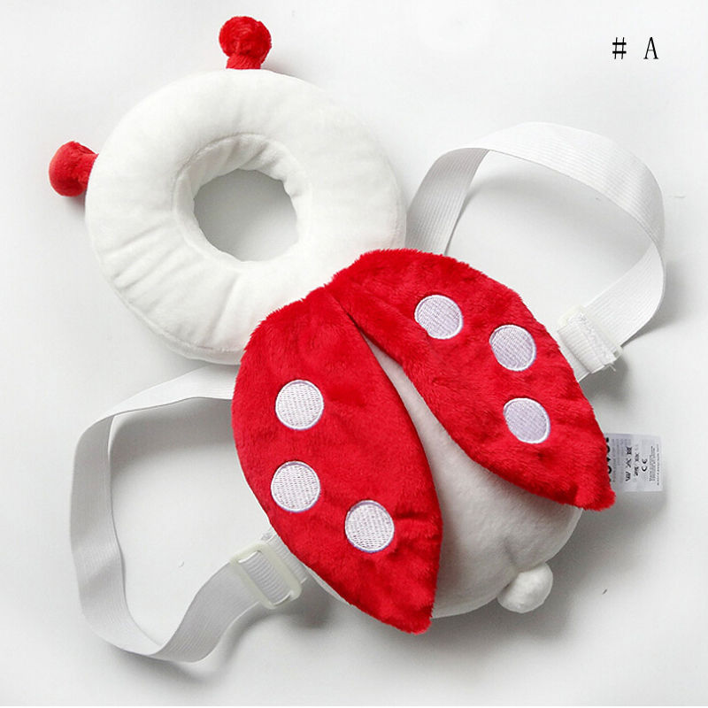Cute Cartoon Baby Girls Boys Head Back Protector Safety Pad Harness Headgear Toddler Infant Baby Head Protection Pads