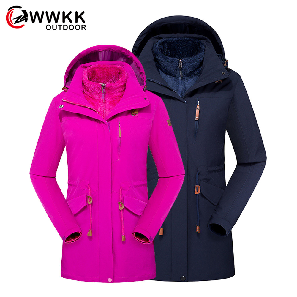 Women's Men's Winter Inner Fleece Waterproof Jackets Outdoor Sports Warm Brand Coats Hiking Camping Trekking Skiing Mountainskin