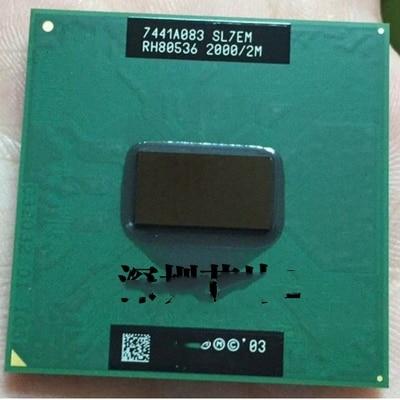1 Chiếc PENTIUM M 755 Máy Tính Xách Tay Bộ Vi Xử Lý Laptop CPU PENTIUM PM755 2.0G 2 SL7EM Mới Và Ban Đầu