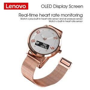 Image 2 - Lenovo חכם שעון קצב לב לחץ דם שעון Bluetooth 5.0 OLED ספיר מראה ספורט Smartwatch מתכת גברים של Watchs