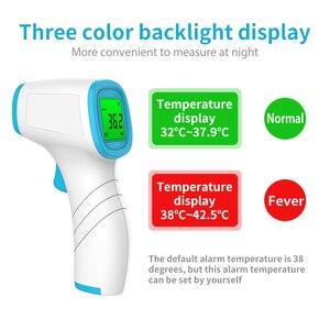 Image 3 - דיגיטלי אינפרא אדום מדחום מצח גוף טמפרטורה ללא מגע LCD מסך אלקטרוני מדחום למבוגרים