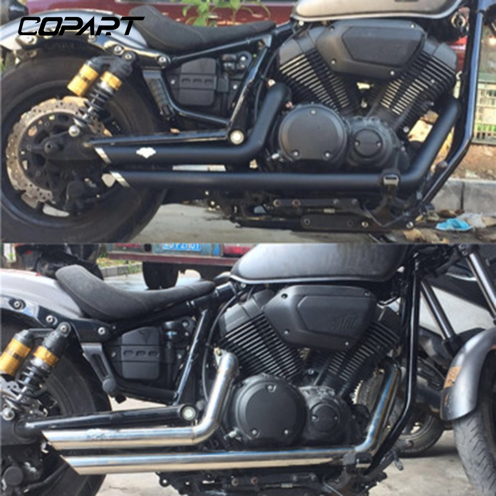Bolt Silencer Exhaust-Pipe Star Motorcycle XV950 Yamaha Muffler for with Removable Black title=