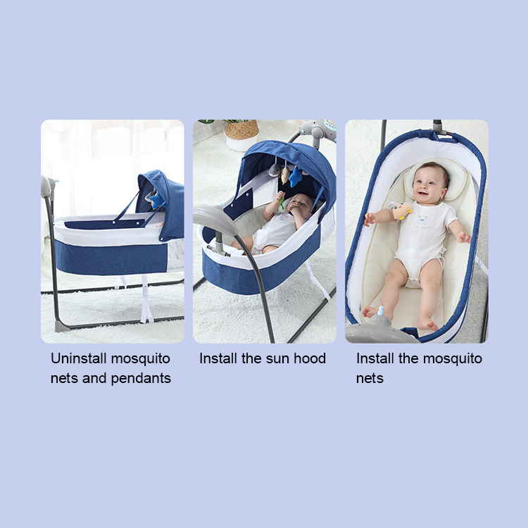 Hf2086b1a4a6c40e3ad064155df722f06F Bluetooth Control Swing Baby Rocking Chair Electric Baby Cradle Remote Control Cradle Rocking Chair For Newborns Swing Chair