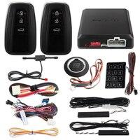 EASYGUARD PKE car alarm system remote engine auto start push button start Touch password keyless entry security alarm|Burglar Alarm|   -