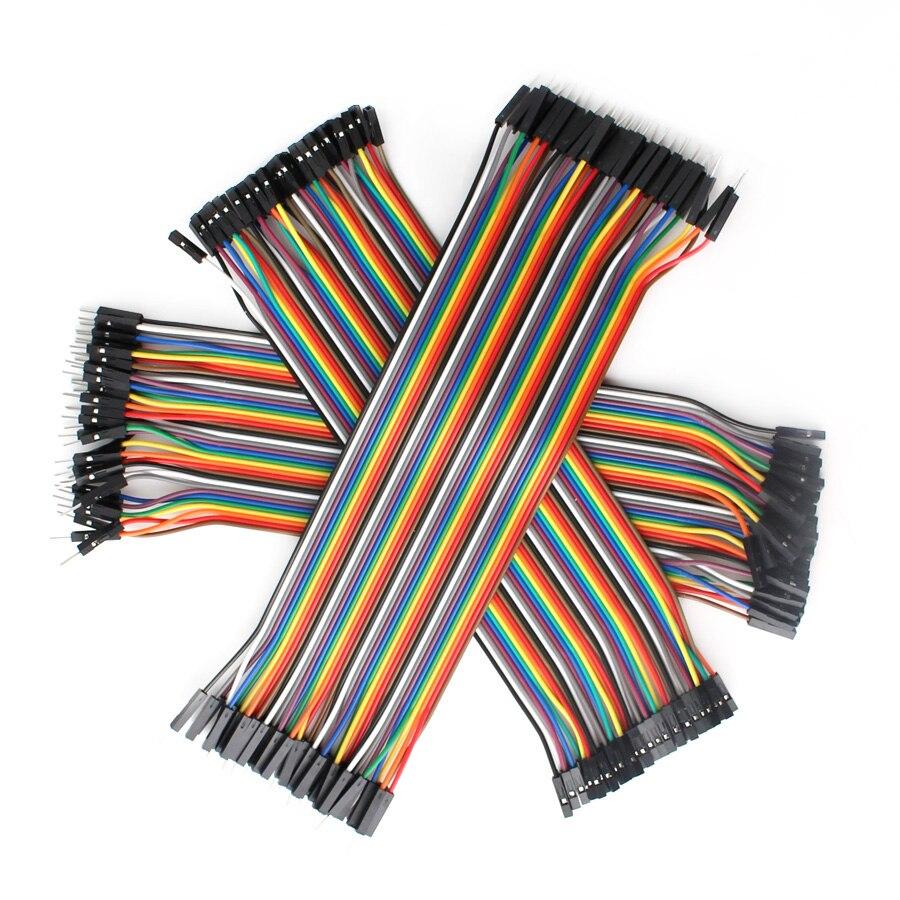 Dupont перемычка провода комплект 120 шт 20 см мужчин и женщин + женщин и женщин перемычки провода Dupont Кабельная линия для Arduino