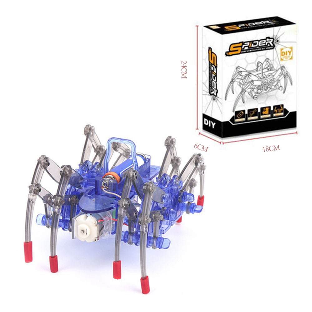 Electric Spider Robot Kit DIY Kids Electiric Toy Educational Intelligence Development Assembled Kids Toy Gifts