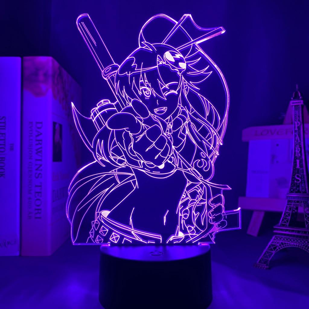 Hf208f837ec0c490084ca39f54ee5eb54c Luminária Anime gurren lagann yoko luz conduzida da noite para o quarto decoração presente de aniversário noite lâmpada yoko littner luz gurren lagann gadget