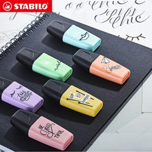 Stabilo Mini BOSS Pastel Highlighter Pen Macaron Color Marker Cute Childrens Fluorescent Mini Set Eco friendly Design 3/6Pcs
