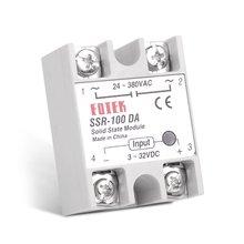 цена на Solid State Relay DC-AC 10A 25A 40A 60A 80A 100A 12V 3-32V DC TO 220V 24-380V AC Load Single Phase SSR for Temperature Control