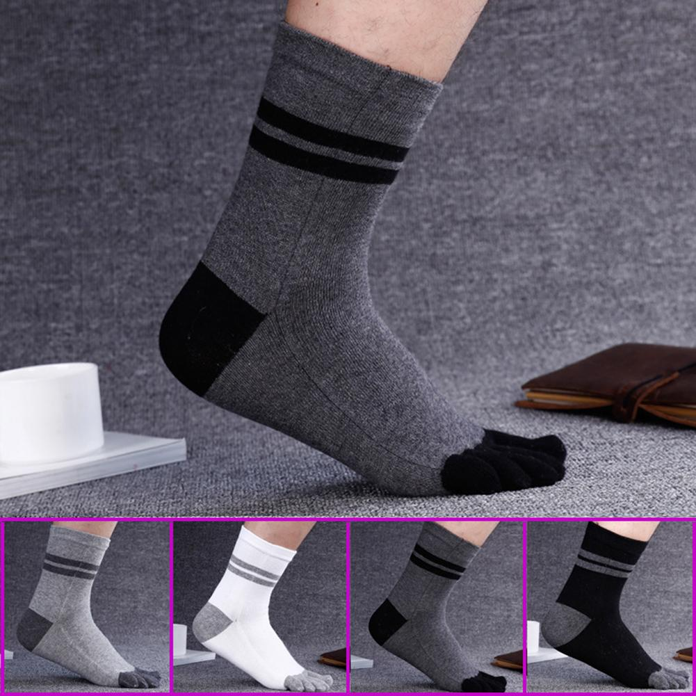 2020 Fashion Men Cotton Thicken Warm Breathable Five Toes Casual Sport Running Socks Summer Man Bike Bicycle Slip Socks