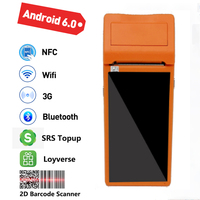 Q2 Android Rugged PDA Barcode Camera Scanner Handheld device Pos terminal built in thermal bluetooth printer 58mm wifi