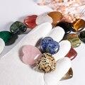 Натуральный кристалл тигровый глаз камень подвеска в виде сердца, 12 штук в партии 30 мм розовый кварц целебные принадлежности, ювелирное изд...
