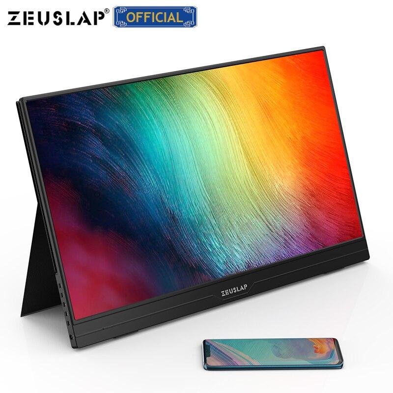 Zeuslap ultrathin 15.6 inç 1080p/dokunmatik fonksiyonu/4K seçenekleri için usb c hdmi ips ekran taşınabilir oyun monitörü anahtar için ps4
