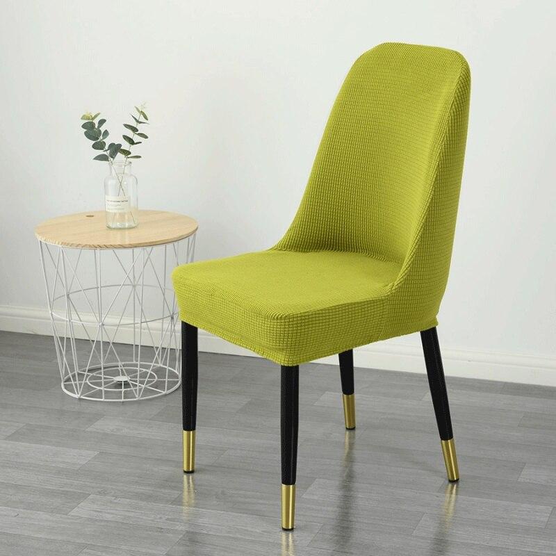 O elastano curvou as tampas da cadeira traseira universal do estiramento volta redonda que janta a cadeira capa para o único assento