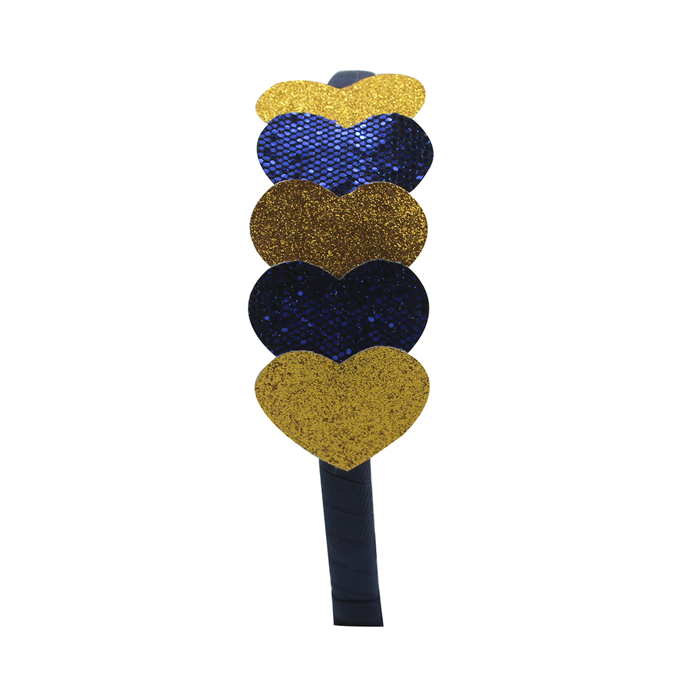 Adogirl Sequine Loveheart Layered Headband Glitter Hair band for Girls Kids Party Hair band Handmade Boutique Hair Accessories in Hair Accessories from Mother Kids