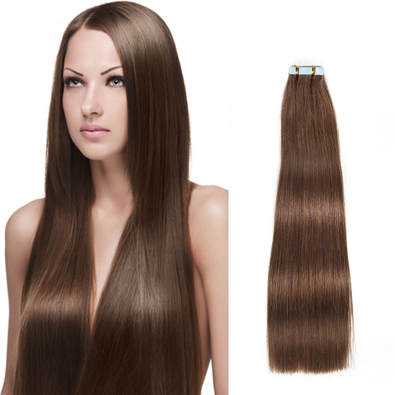 Remy Double Sided Adhesive Tape Extensions Hair 20/40/80pcs for a Head